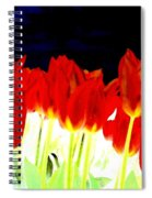 Flaming Red Tulips Spiral Notebook
