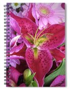 Flaming Tiger Lily Spiral Notebook