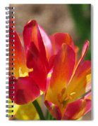 Flaming Tulips Spiral Notebook