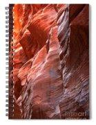 Flaming Walls Of Sandstone Spiral Notebook