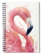 Flamingo - Facing Right Spiral Notebook