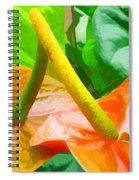 Flamingo Flower Spiral Notebook