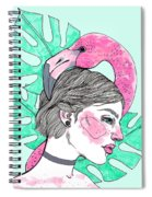 Flamingo Girl Spiral Notebook