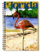 Flamingo In Florida Shirt Spiral Notebook