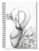 Flamingo In Pearl Necklace Spiral Notebook