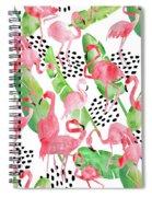 Flamingo Paradise Spiral Notebook