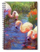 Flamingo Tangerine Dream Spiral Notebook