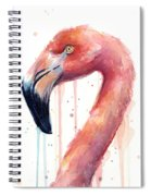 Flamingo Watercolor Illustration Spiral Notebook