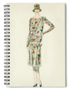 Flapper In An Afternoon Dress Spiral Notebook