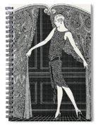 Flapper Opening A Curtain Spiral Notebook