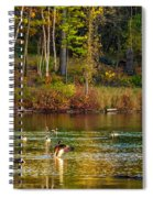Flapping For Fall Spiral Notebook