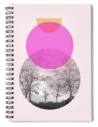 Flare In Pink And Yellow- Art By Linda Woods Spiral Notebook