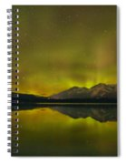Flaring Northern Lights Spiral Notebook