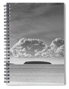 Flat Holm And Steep Holm Mono Spiral Notebook