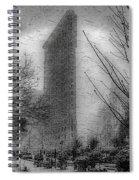 Flat Iron Snow Spiral Notebook