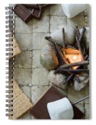 Flat Lay Camp Fire S'mores Deconstructed Spiral Notebook