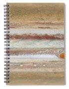 Flat Map Of Jupiter Spiral Notebook