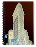 Flatiron Building Inverted Spiral Notebook