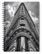 Flatiron Building  Nyc Black And White Spiral Notebook
