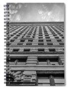 Flatiron Building Sky Black And White Spiral Notebook