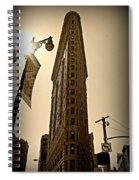 Flatiron Sepia Spiral Notebook