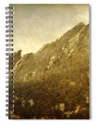 Flatiron Views  Boulder Colorado Spiral Notebook