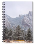 Flatirons From The South Boulder Colorado Spiral Notebook