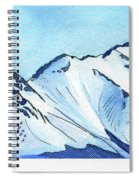 Flattop Through Ptarmigan Peak, Alaska Spiral Notebook