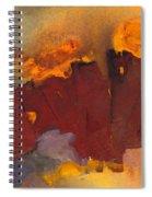 Fleeing The Inferno Spiral Notebook