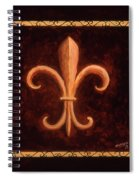 Fleur De Lys-king Louis Vii Spiral Notebook