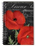 Fleur Du Jour Poppy Spiral Notebook
