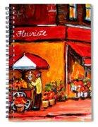 Fleuriste Bernard Florist Montreal Spiral Notebook