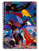 Flight Of A Huming Bird Spiral Notebook