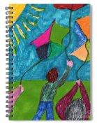 Flight Of Kites Spiral Notebook