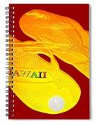 Flip Flops Kona Sunset Spiral Notebook