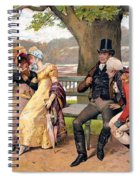 Flirtation, C1810 Spiral Notebook