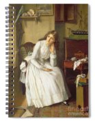Flo Dombey In Captain Cuttle's Parlour Spiral Notebook