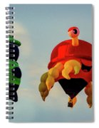 Floating Aerial Photographer And The Smiling Crab Spiral Notebook