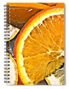Floating Citrus Spiral Notebook
