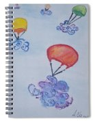 Floating Clouds Spiral Notebook