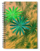 Floating Floral - 004 Spiral Notebook