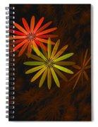 Floating Floral-008 Spiral Notebook