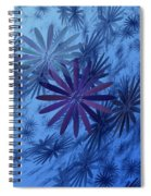 Floating Floral-010 Spiral Notebook