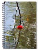 Floating Flower Spiral Notebook