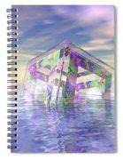 Floating Fractal Spiral Notebook