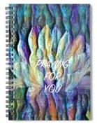 Floating Lotus - Praying For You Spiral Notebook