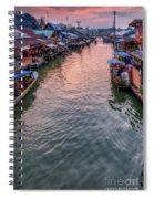 Floating Market Sunset Spiral Notebook