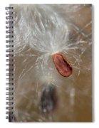 Floating Milkweed In Macro Spiral Notebook