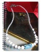 Floating Necklace Spiral Notebook