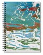 Floating On Blue 35 Spiral Notebook